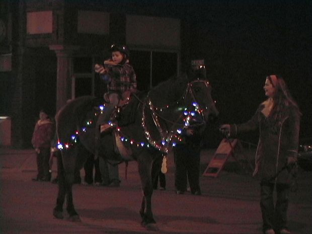 Lighted horse