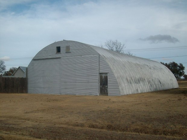 Quonset hut photo for study